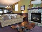 Upper Living Room Gas Fireplace