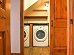 Pack light and make use of the in-unit laundry machines.