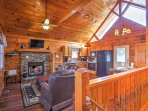 The cabin boasts 800 square feet of comfortable living space.