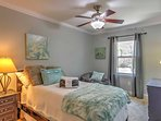 This bedroom features a twin bed, as well as a twin trundle bed for additional sleeping.