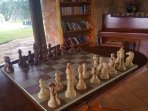 Indoor chess by communal airea