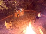 Home comes with own private bon fire and braai airea