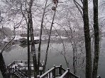 The lake is beautiful in the winter too.