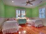 Twin bedroom perfect for little girls!