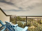 Master Bedroom Deck, Oceanfront Views!