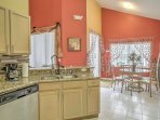 Utilize the fully equipped kitchen to prepare your favorite recipes.
