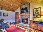 Warm your toes by the gas fireplace.