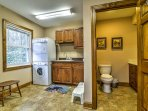 Utilize the in-unit washer and dryer!