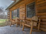 Relax in this woodsy setting when you stay at this 2-bedroom, 1-bathroom vacation rental cabin in Ferryville!