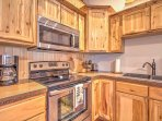 This fully equipped kitchen is perfect for preparing delicious meals.