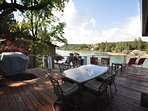 Back deck. Pine Mountain Lake Lakefront Sierra Lakeshore Escape Unit 4 Lot 109. All images are copyrighted and the sole...