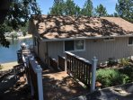 Stairway to the front door. Pine Mountain Lake Lakefront Sierra Lakeshore Escape Unit 4 Lot 109. All images are...