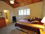 Guest bedroom, upstairs (main level), Queen. Pine Mountain Lake Lakefront Sierra Lakeshore Escape Unit 4 Lot 109. All...