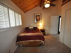 Guest bedroom, upstairs (main level), Queen. View 2. Pine Mountain Lake Lakefront Sierra Lakeshore Escape Unit 4 Lot...