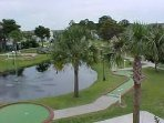 The Gulf Highlands miniature golf is fun for all.  Golf clubs are in the villa for your game.