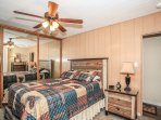 Bedroom 2- Master Suite- Queen Bed, TV/DVD, Private Bath