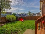 The privacy fenced in yard adds to the peaceful security of the home.