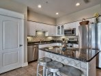 The kitchen is spacious and has everything you need to cook up a delicious meal.