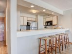 Kitchen with Bar Style Seating