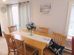 Dining area with easy access to sliders to patio - 15 Oyster Drive Chatham Cape Cod New England Vacation Rentals