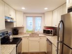 Close up of kitchen- new stainless steel appliances- 15 Oyster Drive Chatham Cape Cod New England Vacation Rentals