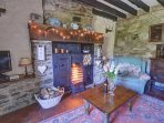 The cosy cottage can be enjoyed at any time of year and is perfect for Christmas