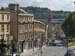 The view from Hedgemead Court into central Bath