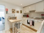The large cottage kitchen offers all the mod-cons you need for the ideal self-catering holiday.