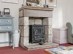 Electric stove to keep you warm for cosy evenings in after a day of exploring.