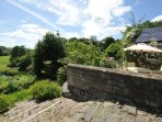 The view from your terrace at Tucking Mill View, bathed in sunlight!