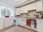 The kitchen is large with all the mod-cons for your self-catering needs.