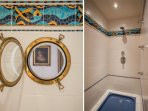 Bathroom furnishings and shower/bathtub