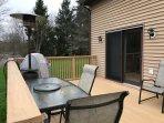 Back Deck w/Patio Furniture & Heater