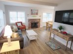 Welcome to Sandy Paws-Open living area with flat screen TV and WIFI - 11 Oyster Drive Chatham Cape Cod New England ...