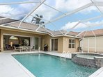 Gorgeous Naples 3 Bedroom 2 Bath Pool Home with Lake & Fountain Views. 1039TL