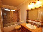 Guest bathroom. Unit 1 Lot 100 Pine Mountain Lake Vacation Rental Creme de la Creme