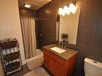 Master bathroom, Unit 5 Lot 133, dog friendly Pine Mountain Lake vacation rental Cloon Brook