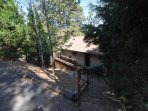 Approximately 20 steps from the driveway to the front entrance, Unit 5 Lot 133, dog friendly Pine Mountain Lake...