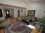 Living room, hardwood floors, small pet friendly, Unit 1 Lot 89 Pine Mountain Lake Golf Course View Vacation Rental...