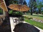 Back patio, Unit 1 Lot 89 Pine Mountain Lake Golf Course View Vacation Rental Creme de la Creme %352