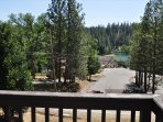 LOCATION! Zoomed view of the Lake Lodge Beach from the top balcony, Unit 4 Lot 49 LakeView Pine Mountain Lake Vacation ...