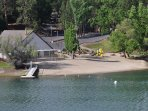 LOCATION! Lake Lodge Beach is right across the street! Unit 4 Lot 49 LakeView Pine Mountain Lake Vacation Rental Escape ...