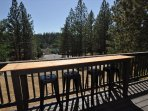 LOCATION! View of the Lake Lodge Beach from the lower deck, Unit 4 Lot 49 LakeView Pine Mountain Lake Vacation Rental ...