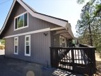 Back of the house, wrap around deck with gates on each end, Unit 4 Lot 49 LakeView Pine Mountain Lake Vacation Rental ...