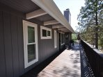 Side of the house, main entrance, Unit 4 Lot 49 LakeView Pine Mountain Lake Vacation Rental Escape At The Lake, 500feet ...