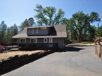 Side of the house, level parking, Unit 4 Lot 49 LakeView Pine Mountain Lake Vacation Rental Escape At The Lake, 500feet ...