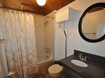 Guest bathroom, main/lower level, Unit 4 Lot 49 LakeView Pine Mountain Lake Vacation Rental Escape At The Lake, 500feet ...