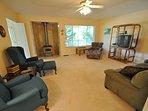 Living room, view 5, Pine Mountain Lake vacation rental Casa Del Lago