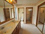 Master bathroom. Pine Mountain Lake Vacation Rental Unit 4 Lot 263, Casa Solorzano
