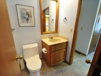 Jack & Jill 1/2-bathroom that connects to a guest bedroom and the hallway too. Pine Mountain Lake Vacation Rental Unit...